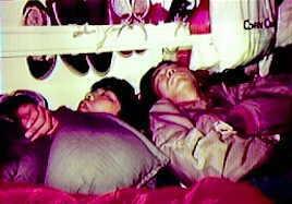 Jumbo and Eiichiro in the van