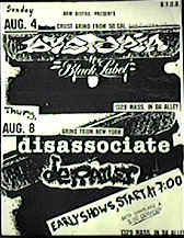 Disassociate Kansas 1996 flyer